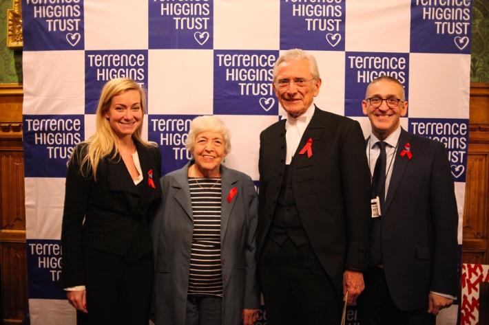 L-R Nicola Blackwood MP, Baroness Gould, Lord Fowler, Ian Green