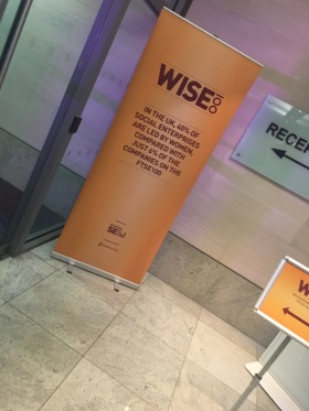 Arriving at WISE100 at RBS in London