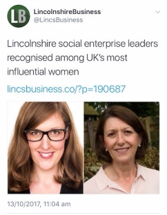 Lincolnshire Business celebrating Elaine Lilley and I representing Lincolnshire