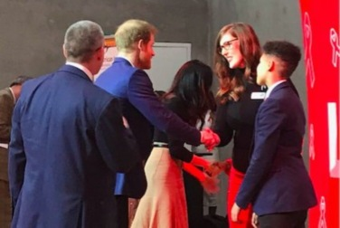 Lizzie and Jay Jordan meet Prince Harry and Meghan Markle